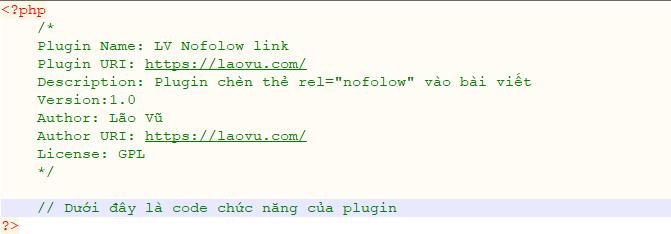Khai báo một plugin mới với wordpress