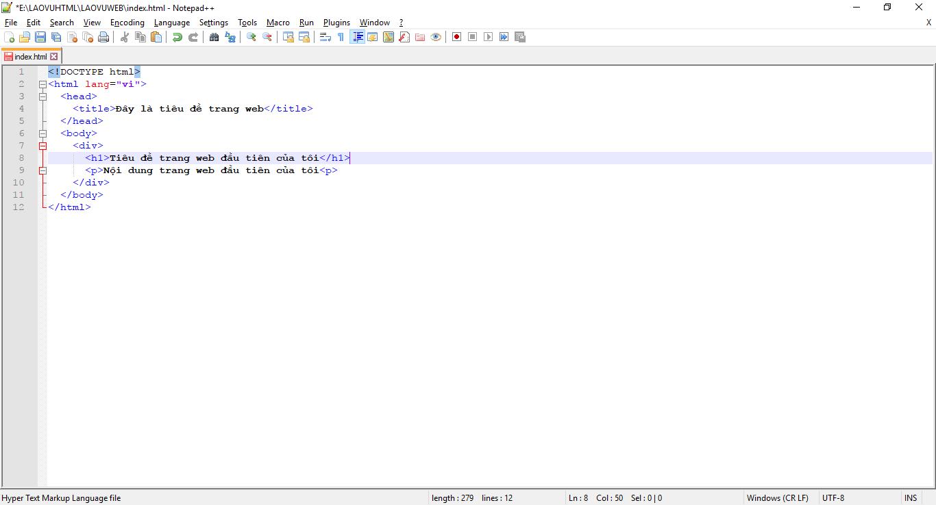 Cấu trúc html của một trang web