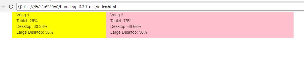Desktop thì tỉ lệ giữa vùng 1 và vùng 2
