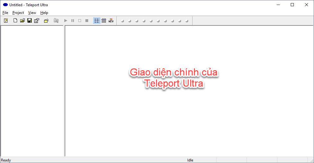 Giao diện chính của phần mềm Teleport Ultra