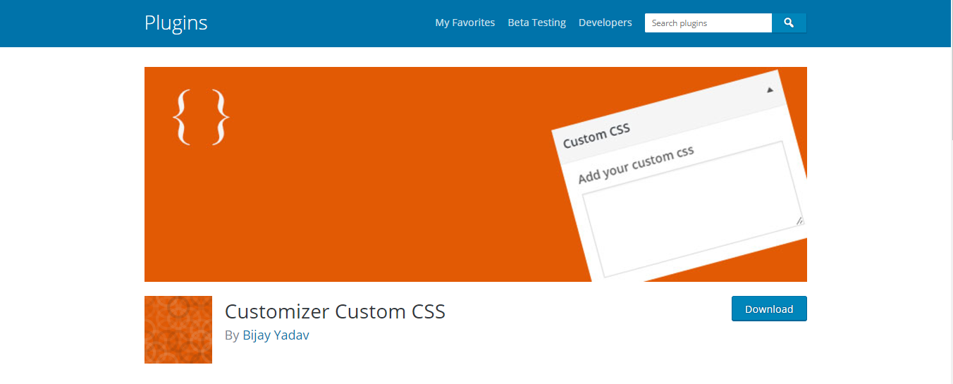 Plugin Customizer Custom CSS