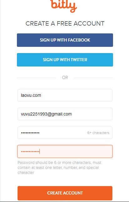 Điền đầy đủ thông tin cá nhân để đăng ký