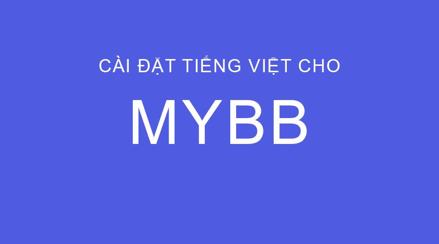 Hướng dẫn cài tiếng Việt cho MyBB