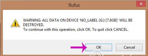 nhận xóa dữ liệu trên USB